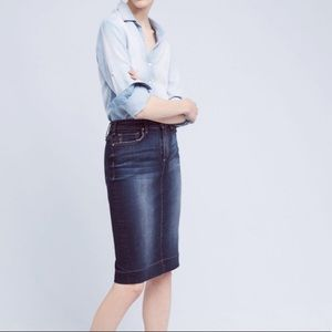 McGuire Denim Pencil Skirt
